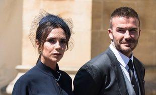 Victoria et David Beckham au mariage du prince Harry et de Meghan Markle