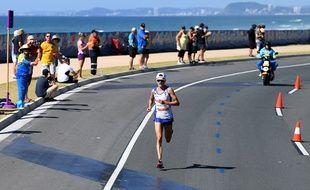 Callum Hawkins lors du marathon du Commonwealth