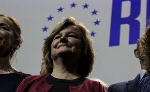 Nathalie Loiseau lors d'un meeting de campagne à Strasbourg.