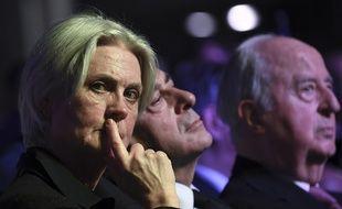 Penelope Fillon et son mari, François, lors d'un meeting Les Républicains, le 9 avril 2017.