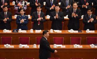 Le président chinois Xi Jinping lors de sa réélection le 17 mars 2018 à Pékin.