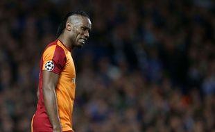 Didier Drogba lors de la rencontre entre Chelsea et Galatasaray le 18 mars 2014.