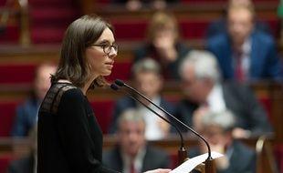 La députée Amélie de Montchalin dans l'hémicycle de l'Assemblée nationale, le 24 octobre 2017.