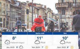 Météo Bordeaux: Prévisions du mercredi 22 janvier 2020
