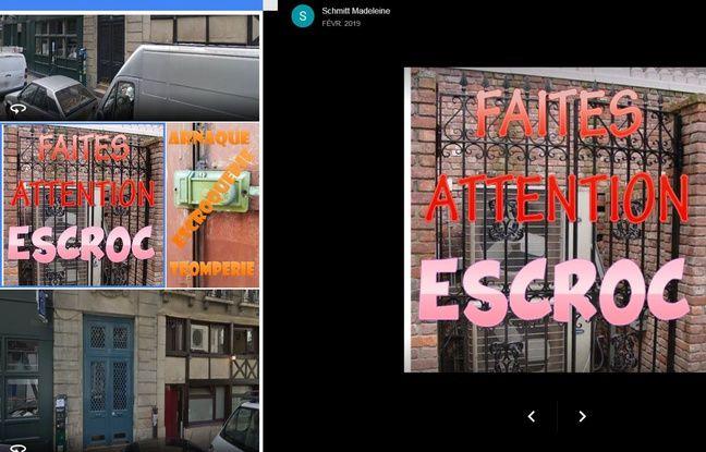 Le genre de photos postées par des escrocs sur le profil Google d'artisans serruriers pour les discréditer.