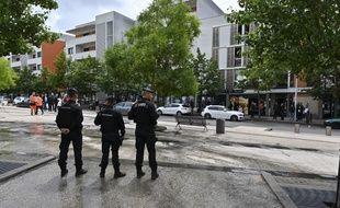 Des gendarmes mobiles dans le quartier des Grésilles, à Dijon
