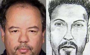 Une photo d'Ariel Castro, soupçonné d'avoir kidnappé et séquestré pendant 10 ans trois jeunes filles à Cleveland (gauche) et un portrait-robot du FBI d'un suspect, en 2004.
