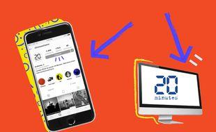 20 Minutes continue à vous informer sur ses (nombreux) supports digitaux : web, mobile, newsletters et réseaux sociaux