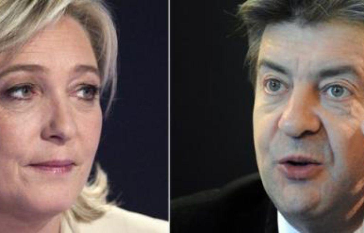 Le Front de Gauche étudie la possibilité d'une candidature de son représentant à la présidentielle Jean-Luc Mélenchon face à Marine Le Pen pour les élections législatives dans le Pas-de-Calais, affirme le quotidien La Voix du Nord dans un article à paraître jeudi – Joel Saget afp.com