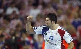 Nikola Karabatic lors de la finale du championnat du monde à Zagreb