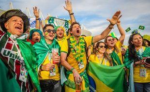 Les fans brésiliens en Russie.