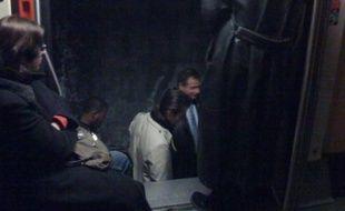 L'évacuation du RER A envoyée par un internaute au 33320, le 28 janvier 2009.
