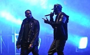 Les rappeurs Kanye West et Jay-Z en 2012