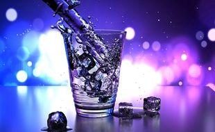 Illustration d'un verre d'eau. En 2020, les associations vont organiser Janvier sobre pour la première fois en France.