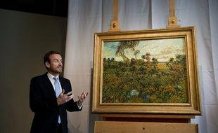 Une peinture de Van Gogh intitulée «Coucher de soleil sur Montmajour», dévoilée à Amsterdam le 9 septembre 2013.