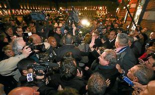 Le nouveau maire de Toulouse, Jean-Luc Moudenc, à son arrivée au Capitole, dimanche soir.