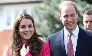 Le prince William et son épouse Kate le 27 mars 2015.