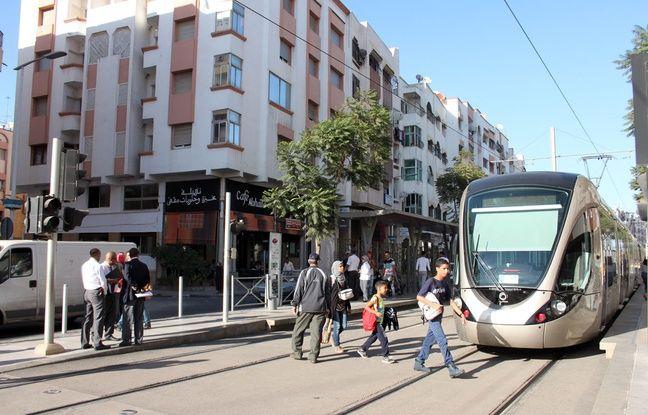 Le terminus du tramway à Salé (Maroc), le 10 octobre 2016.