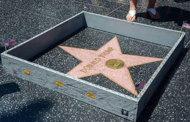 Plastic Jesus, un artiste engagé, a construit le 19 juillet 2016un mur autour de l'étoile de Donald Trump sur le Hollywood Boulevard.