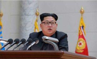 Kim Jong-Un soutient que le dernier essai nucléaire mené par son pays était destiné à éviter une guerre nucléaire avec les Etats-Unis. Image datée du 10 janvier 2016.