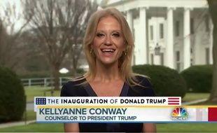 La conseillère de Donald Trump Kellyanne Conway sur NBC News, le 22 janvier 2017.