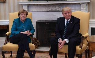 La rencontre entre Angela Merkel et Donald Trump à la Maison Blanche n'a pas vraiment été chaleureuse.