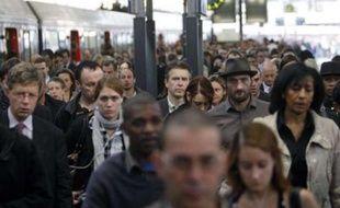 La gare Saint-Lazare à Paris lors de la journée de grève contre les retraites du 13 septembre 2010.