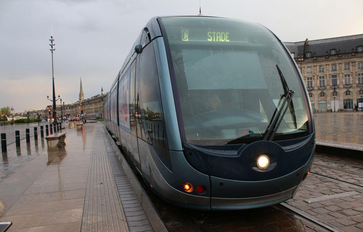 Le 29 avril 2016, tramway à Bordeaux –