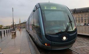 Le 29 avril 2016, tramway à Bordeaux