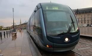 Le 29 avril 2016, tramway à Bordeaux