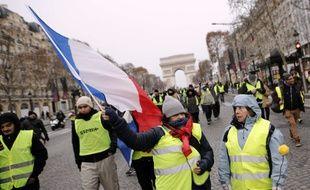 Manifestation de «gilets jaunes» sur les Champs-Elysées à Paris, le 15 décembre 2018.