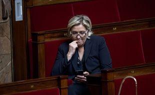 Marine Le Pen, le 7 mars 2018, à l'Assemblée nationale à Paris.