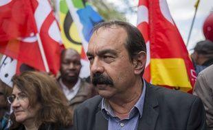 Philippe Martinez le 17 mai lors d'une manifestation