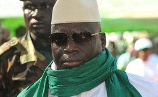 Le président Yahya Jammeh, le 22 novembre 2011 lors d'un meeting politique en Gambie