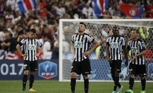 On joue le temps additionnel de la finale PSG-Angers... Les Parisiens viennent d'ouvrir le score...