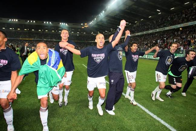 En 2009, les Girondins de Bordeaux sont sacrés champions de France à Caen.