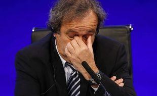 Michel Platini lors d'un congrès de l'UEFA, le 24 mai 2013 à Londres.