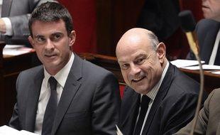 Jean-Marie Le guen et Manuel Valls le 29 octobre 2014 à l'Assemblée nationale.