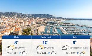 Météo Cannes: Prévisions du jeudi 31 janvier 2019