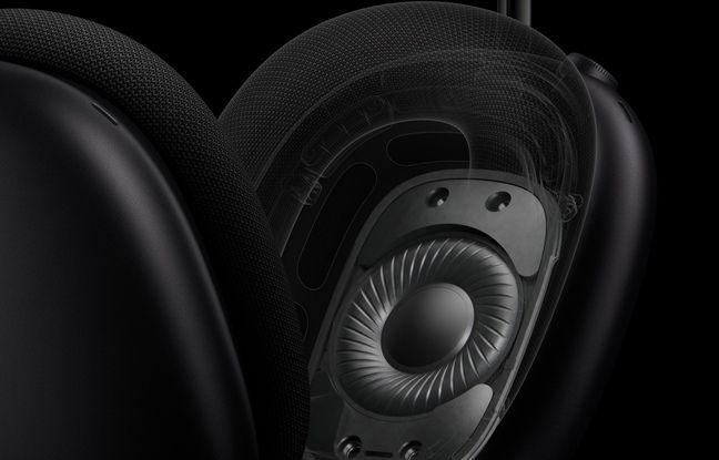 L'AirPods Max renferme des haut-parleurs de 40 mm.