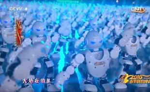 Une troupe de 540 robots a dansé pour fêter le nouvel an chinois le 7 février 2016.