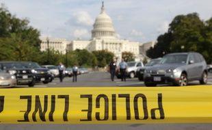L'accès au Capitole fermée par la police le 04 octobre 2013