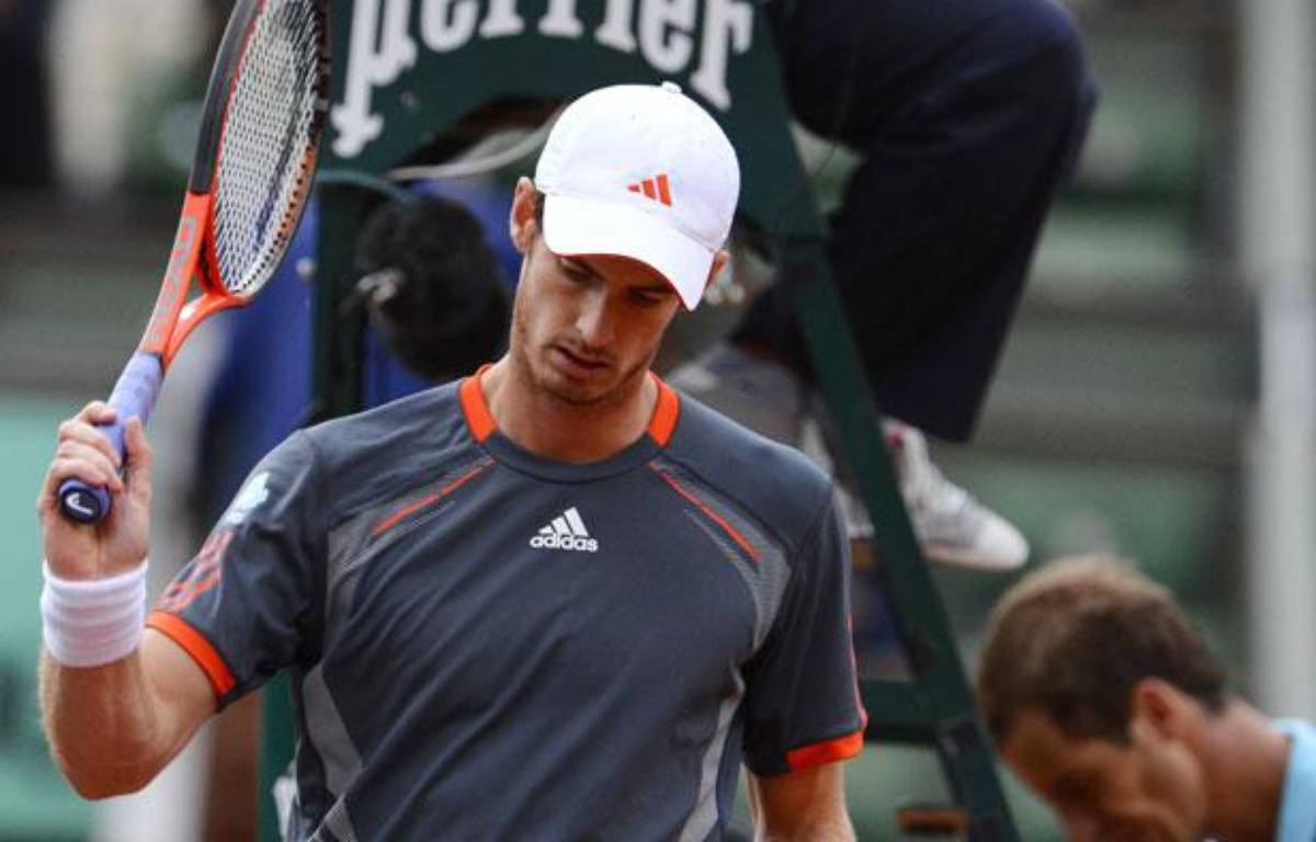 Le joueur britannique Andy Murray, lors de son match à Roland-Garros contre Richard Gasquet, le 4 juin 2012. – P.Guyot/AFP