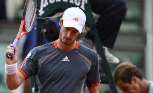 Le joueur britannique Andy Murray, lors de son match à Roland-Garros contre Richard Gasquet, le 4 juin 2012.