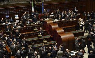 Le Parlement italien lors du 4e tour de vote pour élire le président, le 31 janvier 2015 à Rome