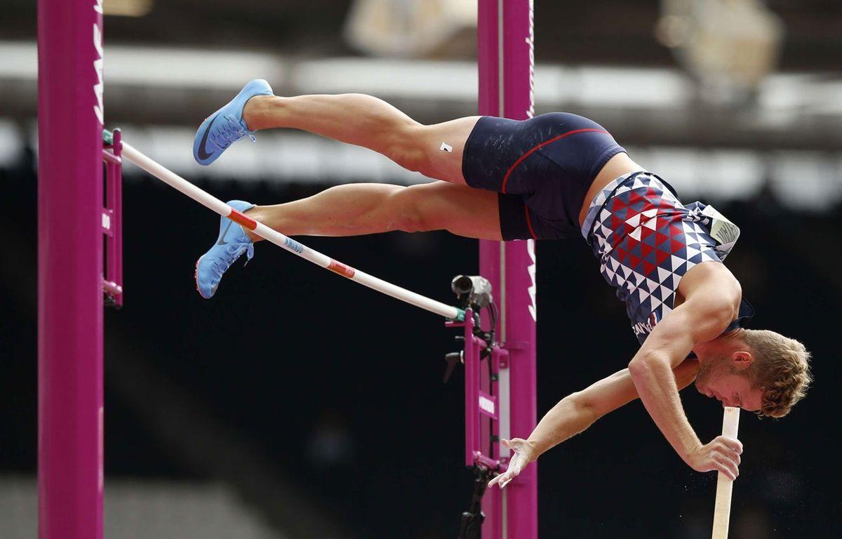 Kevin Mayer au saut à la perche à Londres – SIPA