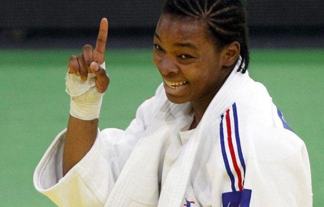 La judoka française Audrey Tcheumeo, lors de sa victoire aux championnats d'Europe d'Istanbul, le 23 avril 2011.