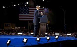 Barack Obama prononce un discours à Chicago, après sa réélection, le 7 novembre 2012.