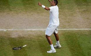 Nick Kyrgios, tombeur de Nadal le 1er juillet 2014 à Wimbledon.