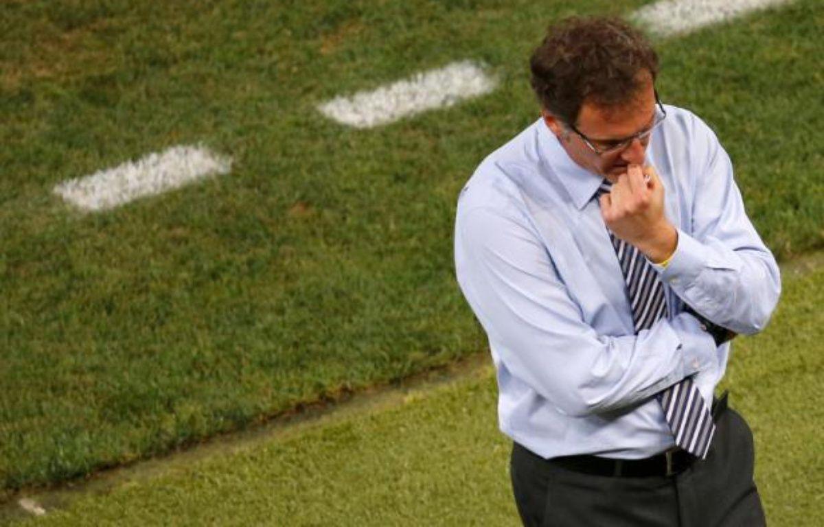 Laurent Blanc, lors de la défaite de l'Equipe de France 2-0 face à l'Espagne lors de l'Euro 2012, le 23 juin. – Y.HERMAN/REUTERS